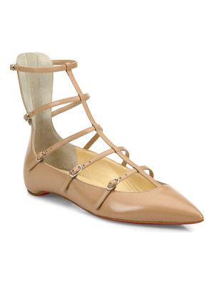 CHRISTIAN LOUBOUTIN Toerless Muse Leather Cage Flats