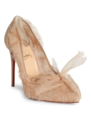 CHRISTIAN LOUBOUTIN Toufrou 100 Organza Point Toe Pumps