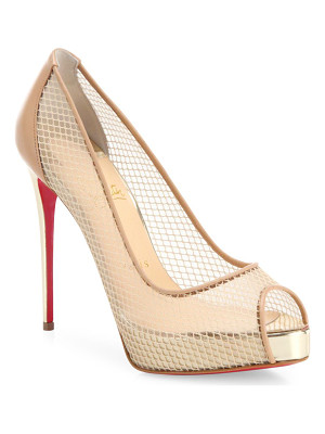 CHRISTIAN LOUBOUTIN Very Rete Mesh Peep Toe Pumps