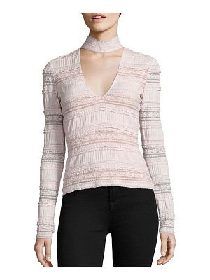 Cinq A Sept cecily choker lace top