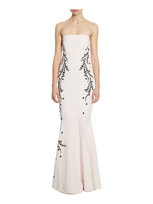 Cinq A Sept luna embroidered strapless gown