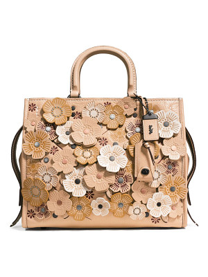 COACH 1941 tea rose applique leather rogue bag