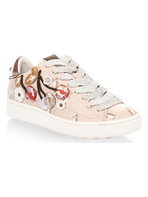 COACH Cherry Leather Fashion Sneakers
