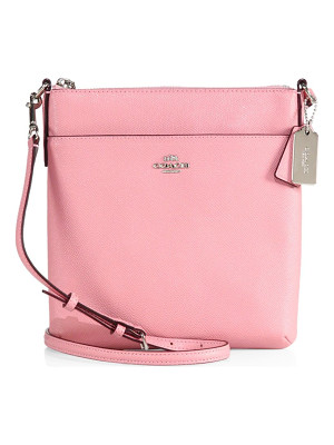 COACH Courier Grosgrain Leather Crossbody Bag