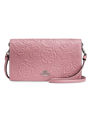 COACH Floral Leather Clutch