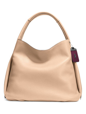 COACH glovetanned pebble leather hobo bag