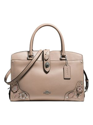 COACH Mercer Leather Satchel