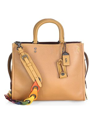 COACH 1941 multicolor strap leather satchel