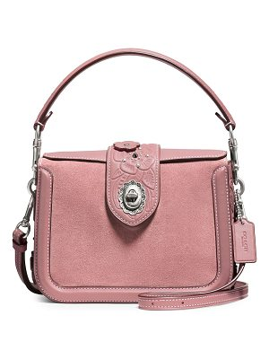 COACH page leather and suede crossbody bag