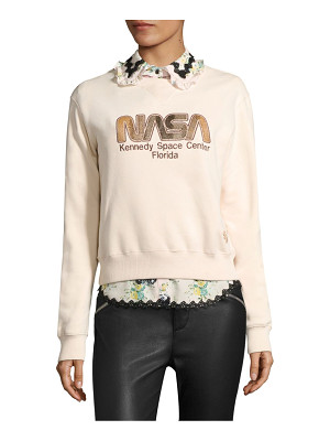 COACH space embroidered sweatshirt
