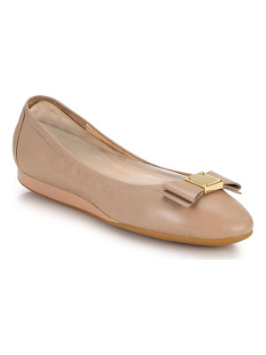 Cole Haan tali bow leather flats