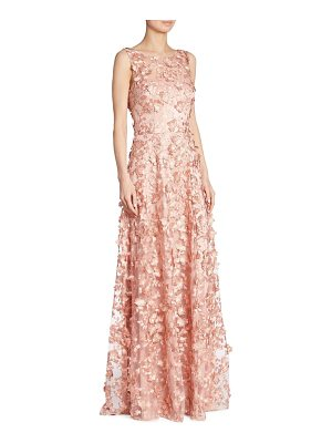 David Meister appliqued a-line gown