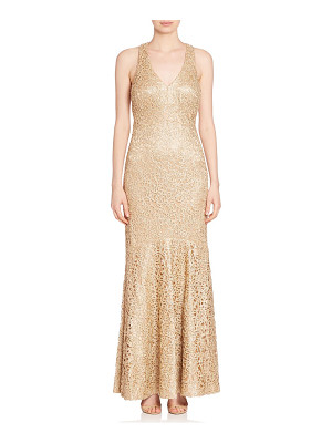 David Meister sleeveless embellished gown