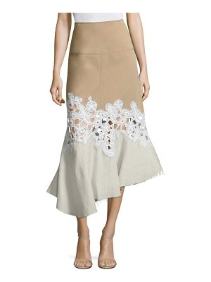 DEREK LAM Mixed Media Midi Skirt