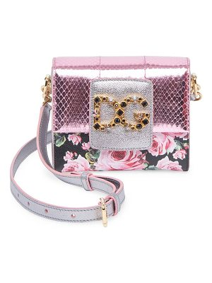 Dolce & Gabbana rose-print mini crossbody bag