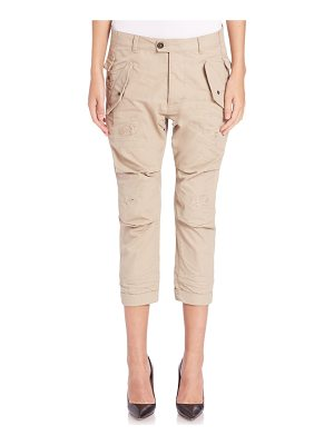 Dsquared2 hiapa distressed cropped military pants