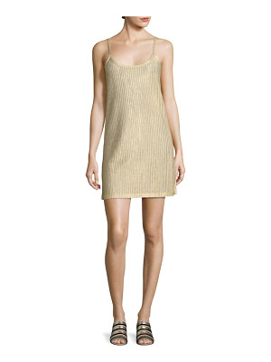 EACH X OTHER Metallic Rib-Knit Slip Dress