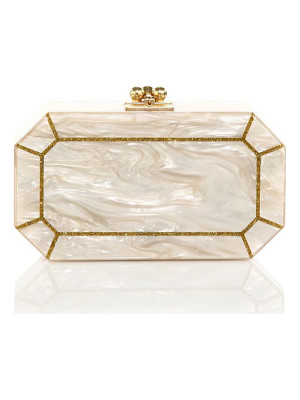 Edie Parker fiona faceted acrylic clutch