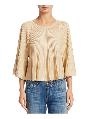 ELIZABETH AND JAMES Amil Pleated Knit Top