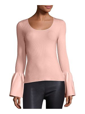 ELIZABETH AND JAMES Willow Bell Sleeve Ribbed Top