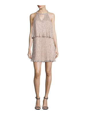 Ella Moss cerine metallic tiered keyhole dress
