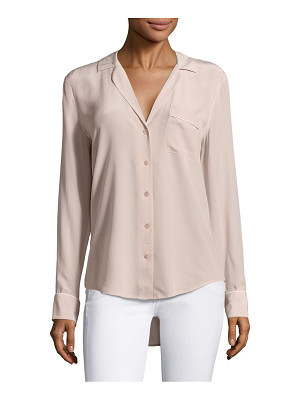 Equipment keira silk piped blouse