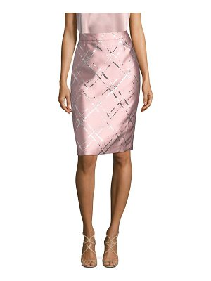 ESCADA metallic jacquard pencil skirt