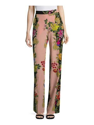 ETRO Largo Floral-Print Silk Wide-Leg Pants