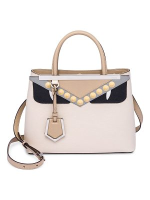 FENDI Camelia Monster Eye Leather Satchel