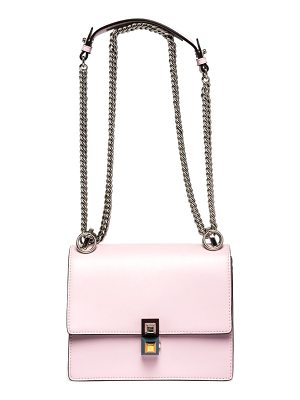 FENDI Kan I Leather Crossbody Bag