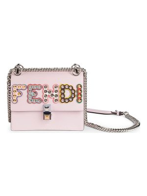 Fendi mini kan i studded leather crossbody bag