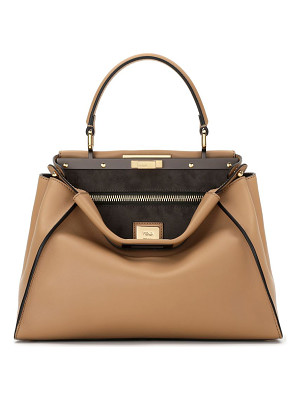 Fendi peekaboo medium leather satchel