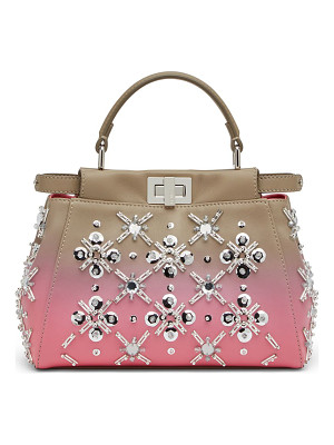 FENDI Peekaboo Mini Beaded Degrade Leather Satchel