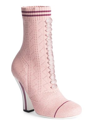 FENDI Rockoko Knit Lace-Up Sock Booties