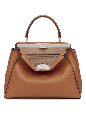 FENDI Selleria Peekaboo Leather Satchel