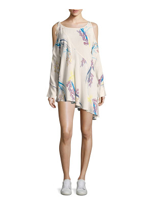 Free People clear skies cold-shoulder floral printed tunic
