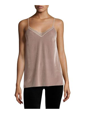 FREE PEOPLE Velvet Solid Tank Top
