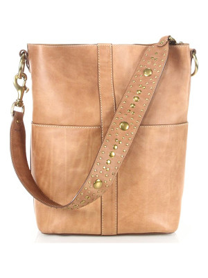 FRYE Ilana Studded Leather Hobo Bag
