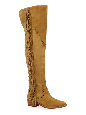 FRYE Ray Fringed Suede Over-The-Knee Boots
