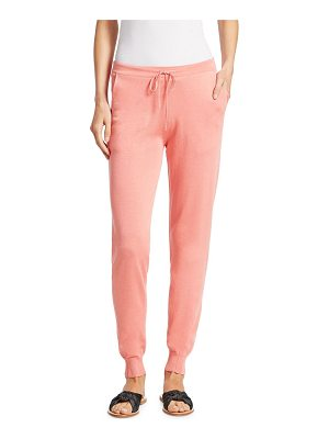 GENTRY PORTOFINO silk & cotton drawstring sweatpants