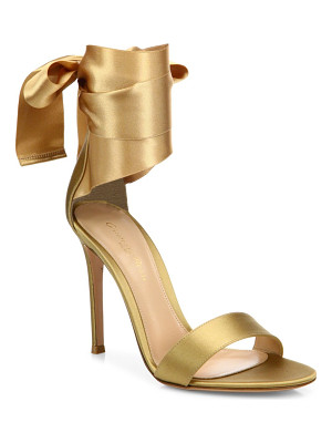 Gianvito Rossi gala satin ankle-wrap sandals