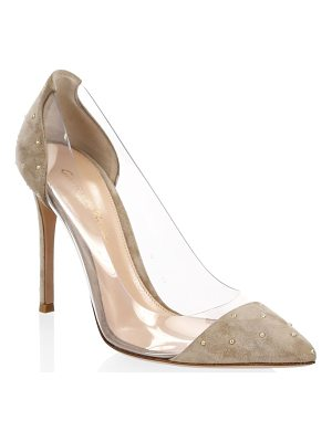 GIANVITO ROSSI Studded Plexi Pumps