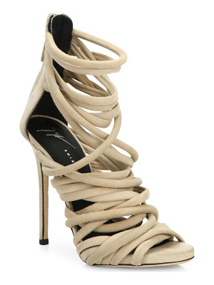 GIUSEPPE ZANOTTI Runway Strappy Suede Sandals