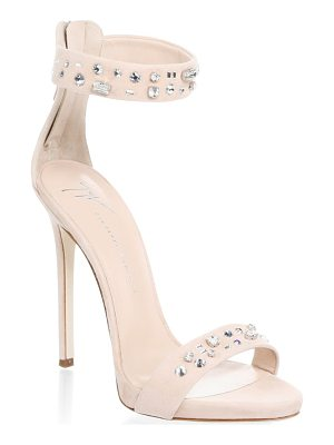 Giuseppe Zanotti stud suede ankle-strap sandals