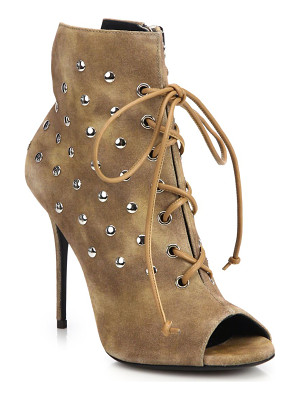 GIUSEPPE ZANOTTI Studded Suede Lace-Up Booties