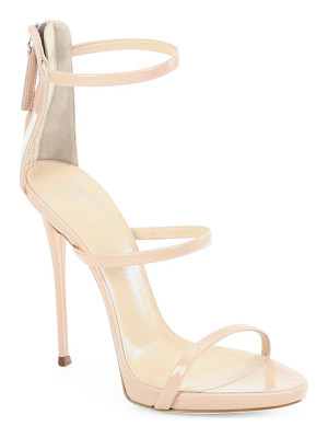 GIUSEPPE ZANOTTI Triple-Strap Patent Leather Sandals