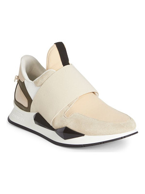 GIVENCHY Active Suede & Patent Leather Sneakers