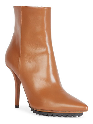 Givenchy iron line leather point-toe ankle boots
