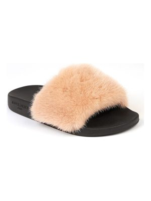 GIVENCHY Women's Mink Fur & Rubber Slides