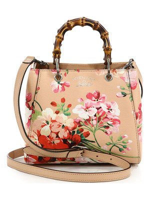 Gucci bamboo shopper mini blooms bag